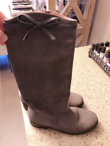 SZ 4 JACADI TALL SUEDE BOOTS