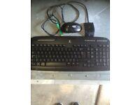 Wireless keyboard and wireless mouse