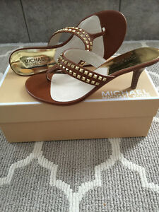 Michael Kors Alexi leather sandals- new in box
