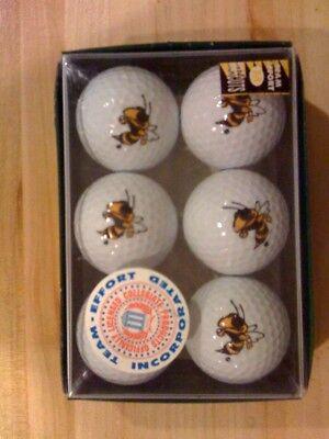 Georgia Tech Yellow Jackets logo golf balls 1/2 -