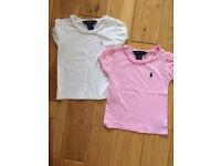 Girls Ralph Lauren t-shirts 18m