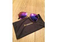 Accessorise purple mirrored aviator sunglasses