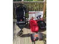 Phil and Teds Dot double pushchair with lots of extras
