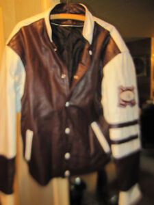 Barons Hockey Team Leather Varsity Jacket Coat New Made Canada