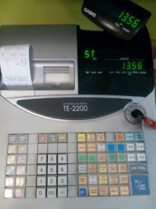Casio TE-2200 Electronic Cash Register.