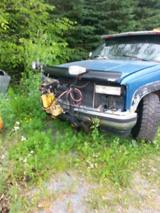 Two chev plow trucks for parts