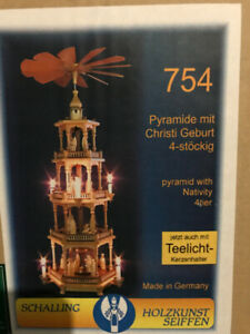 4-Tier Chistmas Pyramid with Nativity by Emil A. Schalling