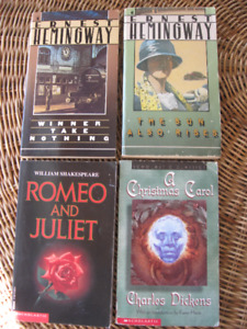 Lot of 4 CLASSICS: DICKENS CHRISTMAS Carol, SHAKESPEARE, H 4/10$