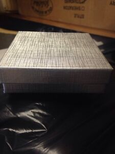 Small Silver Gift Boxes With Cotton Padding