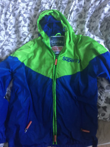 Superdry All Weather Green/Blue Sport Jacket [Japan] (Authentic)