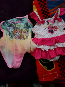 minnie mouse and paw patrol bathing suit