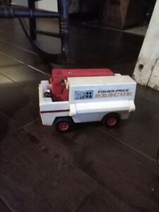 Vintage Fisher Price Rescue Mobile Truck