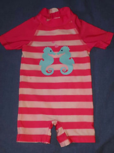 Baby Girls 1pc SwimSuit, Size 3/6mts, EUC