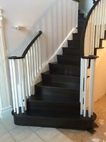 Staircase refacing and railings
