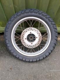 Honda Transalp wheels and discs