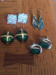 Vintage earrings - clip ins