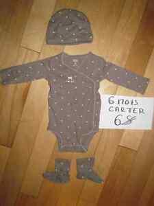 Pyjamas et cache-couches fille 3-6 mois Saguenay Saguenay-Lac-Saint-Jean image 2