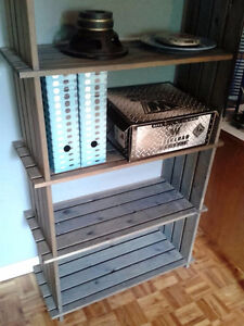 SOLID PINE BOOKCASE WITH 2-DOOR CABINET, WOODEN BOOKCASE SHELVES West Island Greater Montréal image 3