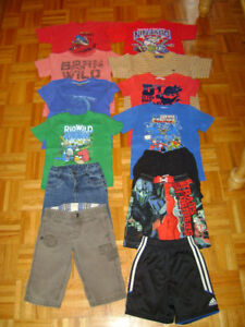 Chandails manches courts ,shorts,maillots de bain taille 5-6ans