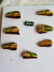 "Vintage ""GO"" Train Pin Collection"