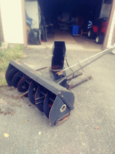 Snowplow thingamagigger for a lawntractor whatchyamacallit..