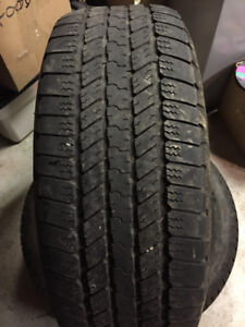 4 Goodyear Wrangler 275/55R-20 Tires