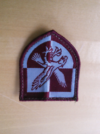 Embroidered army badge