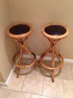 Bamboo bar stools