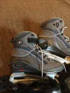 Womens roller blades and pads size 9.5