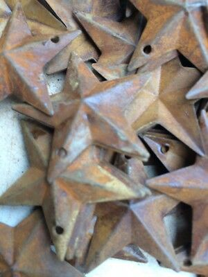 500 ~  Rusty Stars 1.5 in 1 1/2 Primitive Country Crafts Rust BULK CRAFT SUPPLY