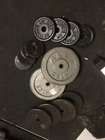 "120 Lbs of Solid Steel Weight Plates for 1"" Weight Plates"