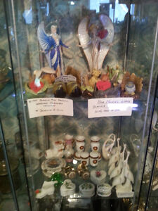 ASSORTED GLASS, PORCELAIN, CRYSTAL, CERAMIC, SILVER,BRASS