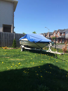 SUNRAY BOAT with TRAILER and Johnson motor ready to go