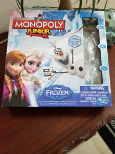 Frozen Junior Edition Monopoly Game