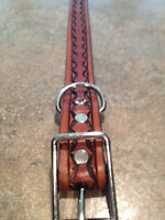 ▐►► Handtooled Leather dog collars ◄◄▌