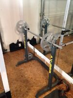 Axis barbell, weight and stand