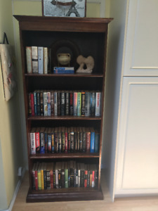 Bookcases - Solid Mahogany $50.00 ea. (Two available)