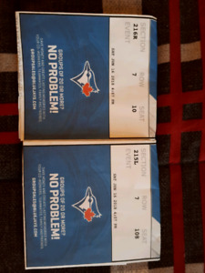 Jays tickets June 16th game 200s