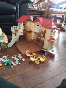 Calico critter house, living room and kitchen set