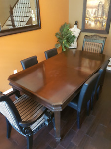 Solid wood dining table with leaf (no chairs)