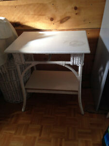table osier blanche