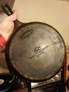 "GHC/Wagner Ware USA #8 D 10-1/2"" skillet"
