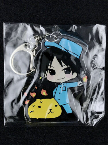 Fullmetal Alchemist Acrylic Key Holder Ring PRINCESS CAFE Kapibara Roy Mustang