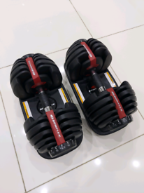 Genuine Bowflex SelectTech 552i adjustable dumbbells 2 to 24kg *IMMACU