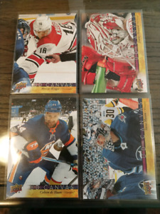 Lot of 4 2017-18 Upper Deck Canvas Hockey Cards