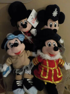 DISNEY MINI BEANBAGS PLUSH FIGURINES * LOT OF 4*