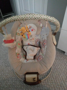 Winnie the Pooh vibrating bouncy chair