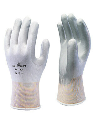 Showa Atlas Fit 370w White Nitrile Gardening Work Gloves - Smlxl