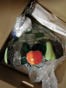 Stained glass look fruit pendant kitchen lighting fixture