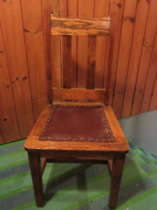 VINTAGE OAK SIDE CHAIR, GREAT CONDITON ASKING $45 OR BEST OFFER,